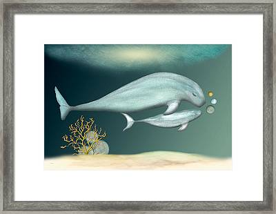 Framed Print featuring the painting First Swim by Anne Beverley-Stamps