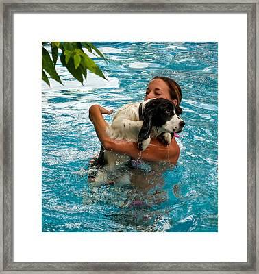 First Swim Framed Print by Steve Harrington