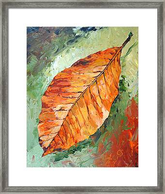 First To Fall Framed Print