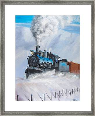 First Train Through Framed Print by Christopher Jenkins