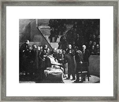 First Use Of General Anaesthesia, 1846 Framed Print by