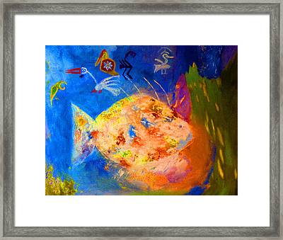 Fish And Birds Framed Print by James Gallagher