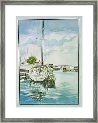 Fish Creek Harbor Framed Print by Laurel Fredericks