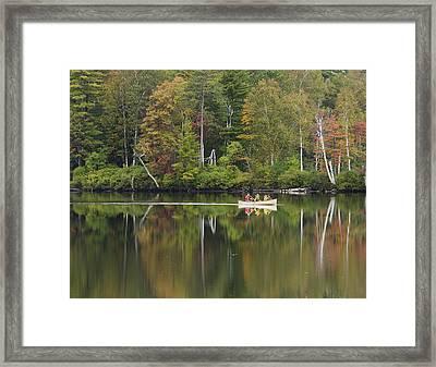 Fish Creek Pond In Adirondack Park - New York Framed Print by Brendan Reals