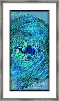 Fish Eye Framed Print by Leslie Revels Andrews