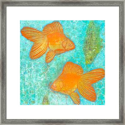 Fish For Free Framed Print by Micki  Moss
