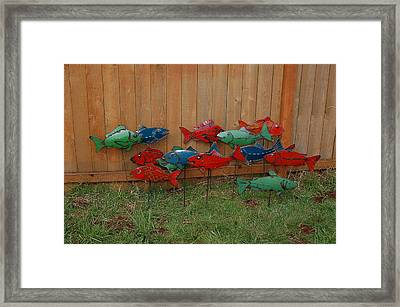 Fish From Cars Framed Print by Ben Dye