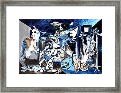 Fish Guernica Framed Print by J Vincent Scarpace