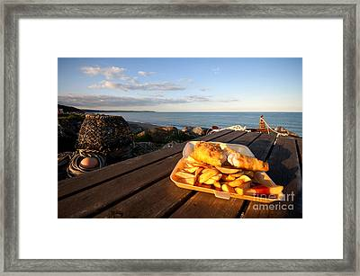 Fish 'n' Chips By The Beach Framed Print