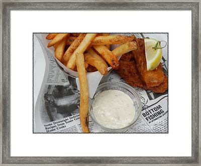 Fish N Chips Framed Print