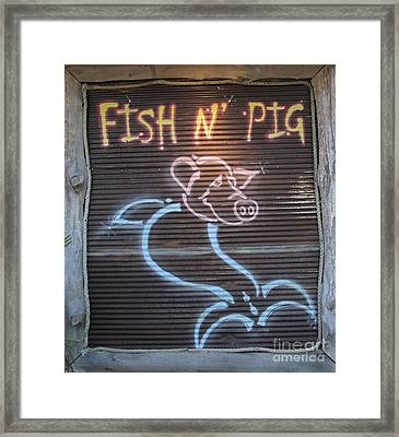 Fish N' Pig Framed Print