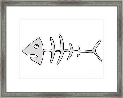 Fish Skeleton - Fishbones Framed Print by Michal Boubin