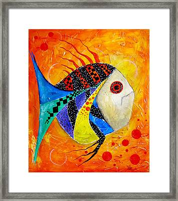 Fish Splatter II Framed Print