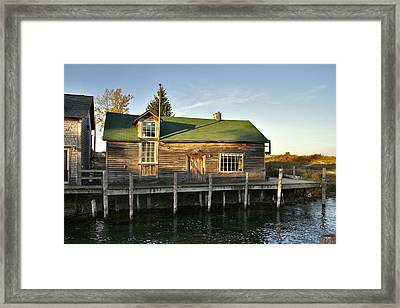 Fish Town Shanty  Framed Print