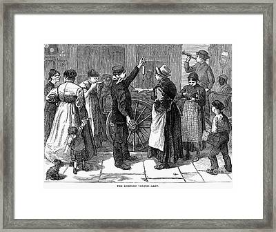 Fish Vendor, 1874 Framed Print by Granger
