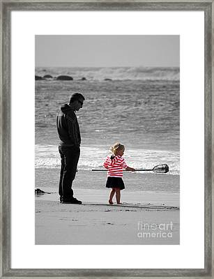 Framed Print featuring the photograph Fish With Me Daddy by Terri Waters