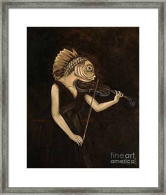 Fish With Violin Framed Print