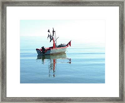 Fisher-boat In Baltic Sea Framed Print by Km-foto
