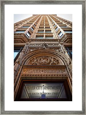 Fisher Building Chicago Framed Print by Steve Gadomski