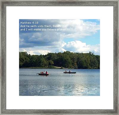 Fisher Of Men Framed Print by Lisa  Ridgeway
