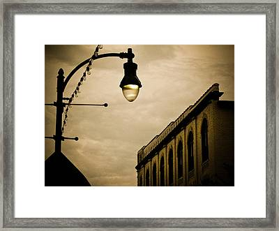 Fisher Street Facades Framed Print by Jessica Brawley