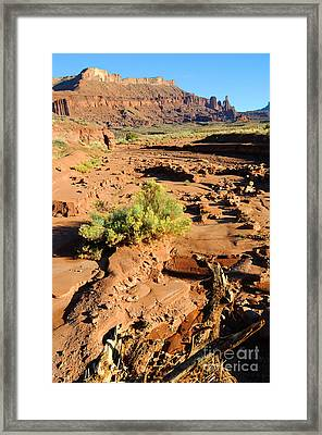 Fisher Towers At Sunset Framed Print