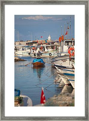 Fisherman At Yumurtalik Framed Print by Gabriela Insuratelu