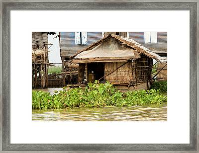 Fisherman Boat House Framed Print