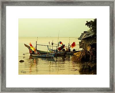 Fisherman Boats Framed Print by Allan Rufus