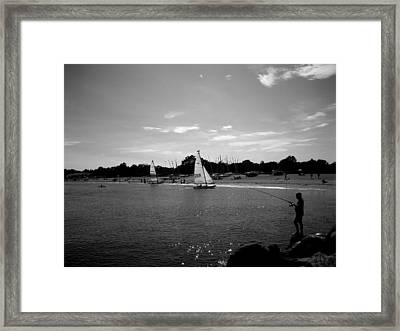 Fisherman Framed Print by Gerard Yates