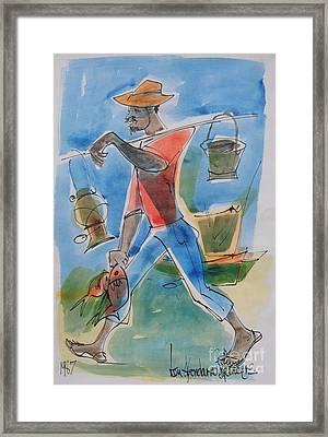 Fisherman Framed Print by Carey Chen