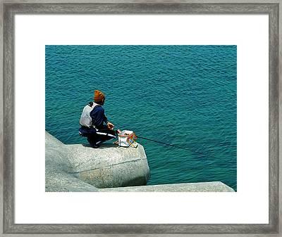 Fisherman - Okinawa Framed Print
