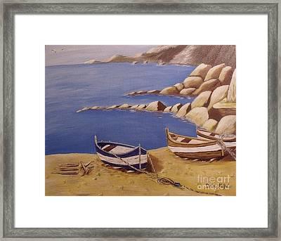 Fisherman's Boats Framed Print by Debra Piro