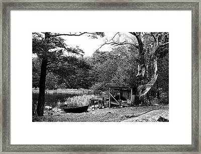 Fishermans Camp After The Summer Framed Print by Matthias Siewert