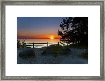 Fisherman's Island State Park Framed Print by Megan Noble