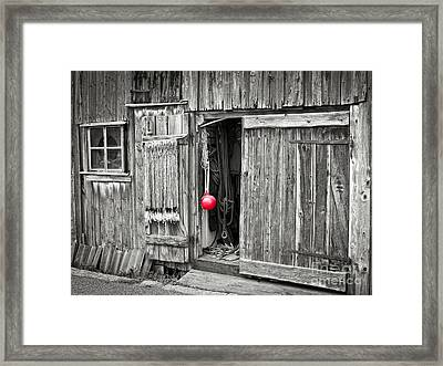 Fishermans Shed Framed Print by Lutz Baar