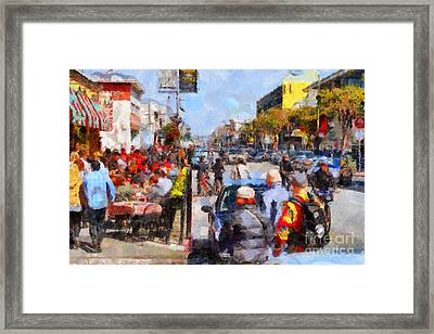 Fishermans Wharf San Francisco California . Painterly . 7d14485 Framed Print by Wingsdomain Art and Photography