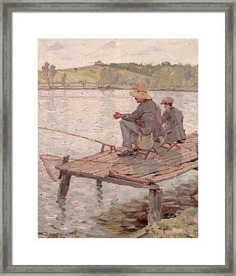 Fishermen Framed Print by Pierre Roche