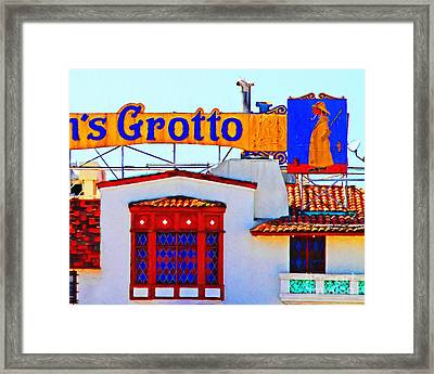 Fishermens Grotto Restaurant At Fishermans Wharf . San Francisco California . 7d14350 Framed Print by Wingsdomain Art and Photography