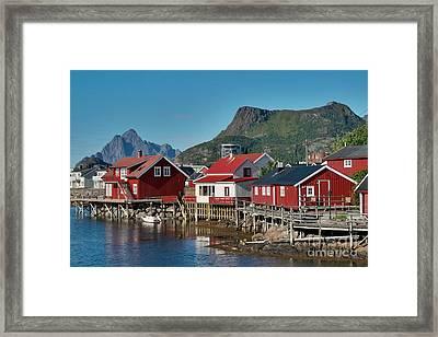 Fishermen's Houses Framed Print
