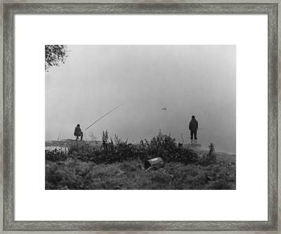 Framed Print featuring the photograph Fishin On The Rhine by Bob Wall