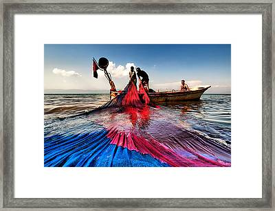 Fishing - 11 Framed Print by Okan YILMAZ