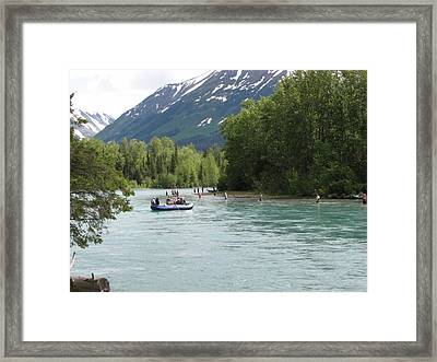 Fishing And Rafting  Framed Print