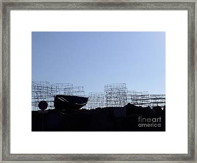 Fishing Framed Print by Andrew Middleton