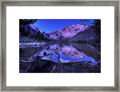 Fishing At Convict Lake Framed Print by Sean Foster