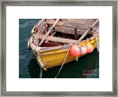 Fishing Boat Framed Print by Carlos Caetano