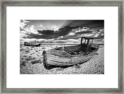 Fishing Boat Graveyard Framed Print