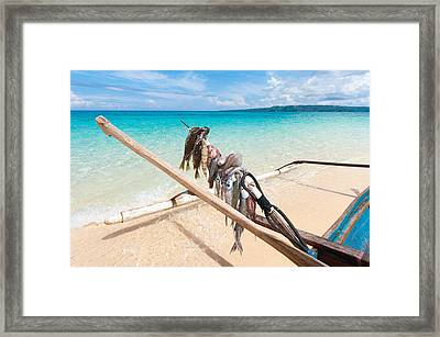 Fishing Boat Framed Print by Hans Engbers