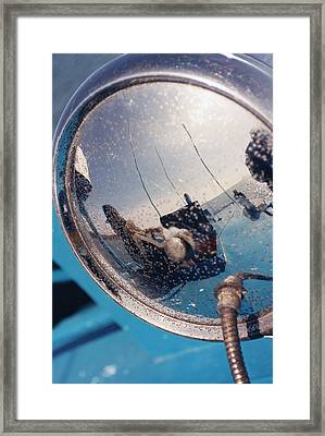 Fishing Boat Reflection Framed Print