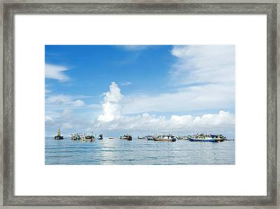 Framed Print featuring the photograph Fishing Boat by Yew Kwang